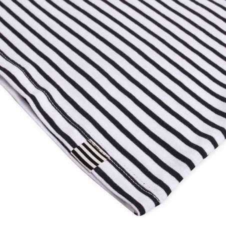 Mads Nørgaard T-Shirt, Teasy Organic Favorite Stripe, White/Black detalje