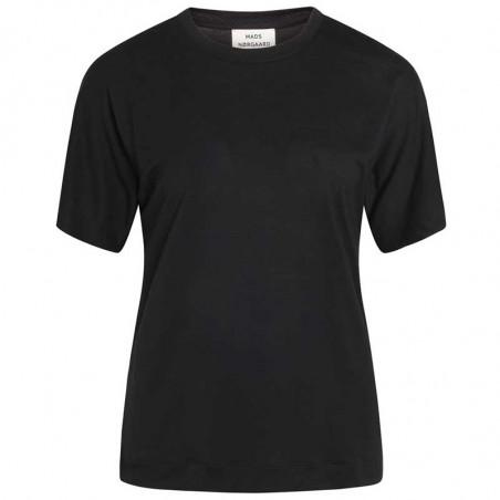Mads Nørgaard T-Shirt, Trinity Delicate Jersey, Black Mads Nørgård tøj dame
