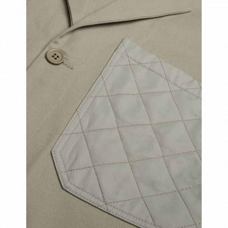 Mads Nørgaard Jakke, Janille Twill Blend, Light Army Mads Nørgård dame jakke quiltet lomme