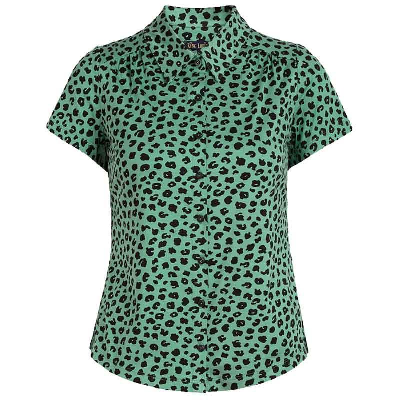 King Louie Bluse, Bobcat, Neptune Green King Louie tøj - jersey skjorte