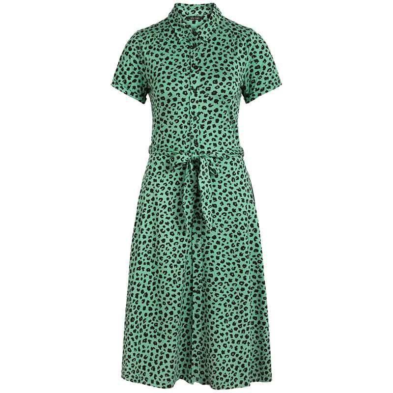 King Louie Kjole, Olive Bobcat Dress, Neptune Green Kinglouie jersey kjole