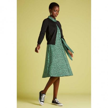 King Louie Kjole, Olive Bobcat Dress, Neptune Green Kinglouie jersey kjole på model look