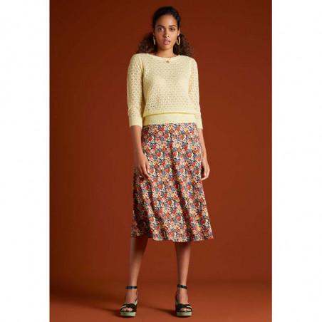 King Louie Nederdel, Juno Midi Skirt Santa Rosa, Black på model look
