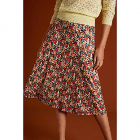 King Louie Nederdel, Juno Midi Skirt Santa Rosa, Black på model