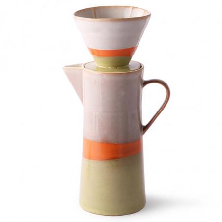 HK Living Kaffetragt og kaffekande, Ceramic 70's Coffee Filter, Saturn Hk Living forhandler København