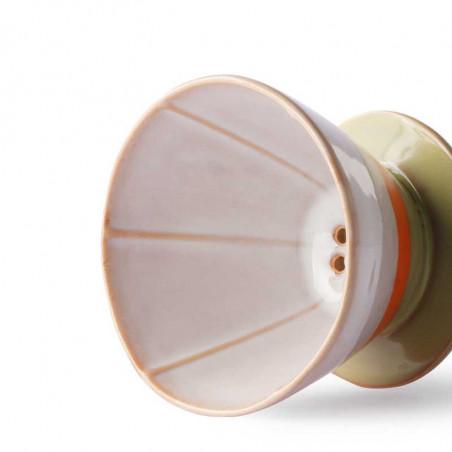 HK Living Kaffetragt i keramik, Ceramic 70's Coffee Filter, Saturn Hk Living forhandler København