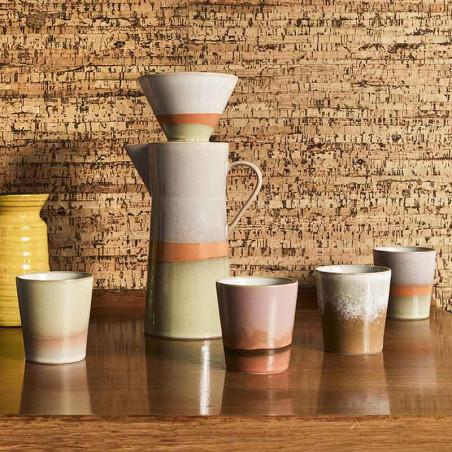 HK Living Kaffetragt, Ceramic 70's Coffee Filter, Saturn Hk Living forhandler København Kaffekande kaffekopper