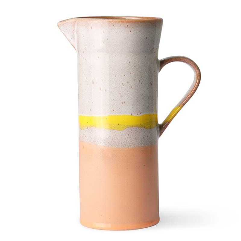 HK Living Kande, Ceramic 70's Jug, Sunrise HK Living keramik kande