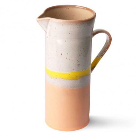 HK Living Kande, Ceramic 70's Jug, Sunrise HK Living keramik kande set oppefra