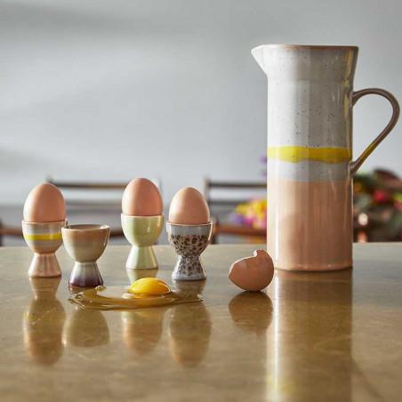 HK Living Kande, Ceramic 70's Jug, Sunrise HK Living keramik kande og æggebægre