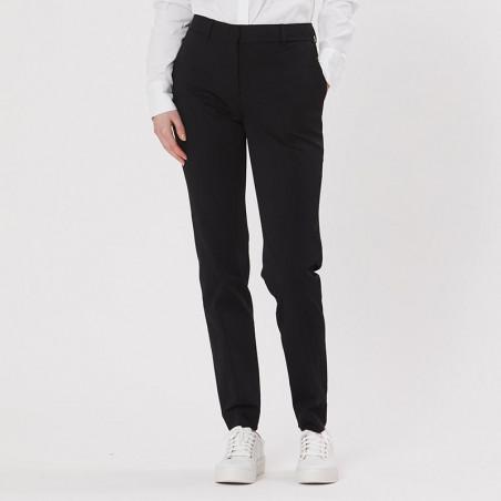 PBO Bukser, Beck Long Pants, Black PBO basic tøj til kvinder
