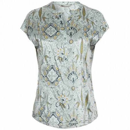 PBO Bluse, Dust Silkebluse, Mint Print PBO Group tøj til kvinder Dust bluse