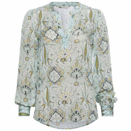 PBO Bluse, Lockhart Shirt, Mint Print PBO tøj