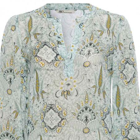PBO Bluse, Lockhart Shirt, Mint Print PBO Group Detalje billede