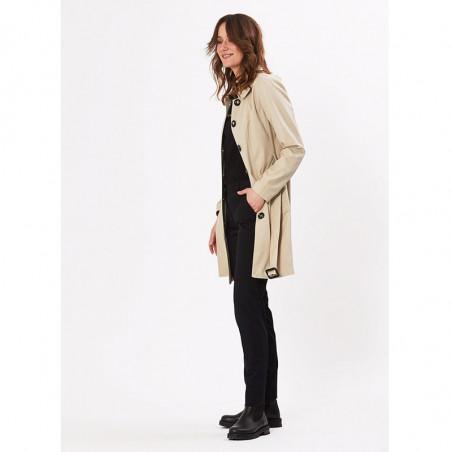 PBO Frakke, Liva Coat, Feather PBO trenchcoat look