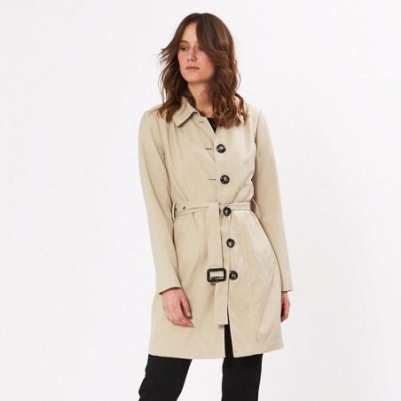 PBO Frakke, Liva Coat, Feather PBO trenchcoat på model