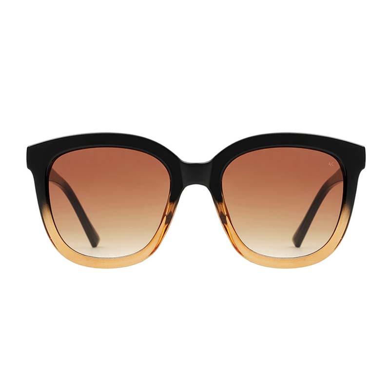 A Kjærbede Solbriller, Billy, Black/Brown Transparent