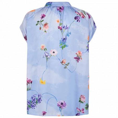 Nümph Bluse, Nucuba blouse, Wedgewood Numph top ryg