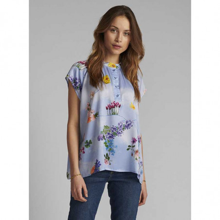 Nümph Bluse, Nucuba blouse, Wedgewood Numph top på model