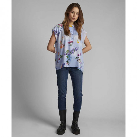 Nümph Bluse, Nucuba blouse, Wedgewood Numph top look