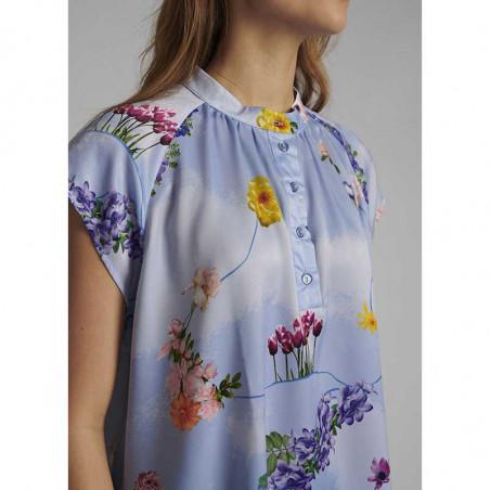 Nümph Bluse, Nucuba blouse, Wedgewood Numph top detalje