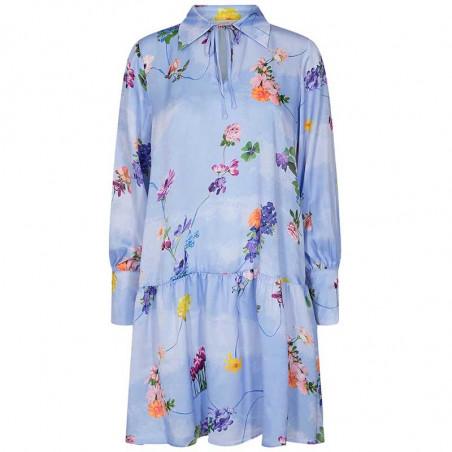 Nümph Kjole, Nucuba dress, Wedgewood Numph print kjole
