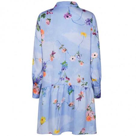 Nümph Kjole, Nucuba dress, Wedgewood Numph print kjole ryg