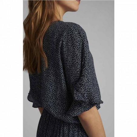 Nümph Bluse, Nucourtney blouse, Dark Sapphire Numph top fra siden