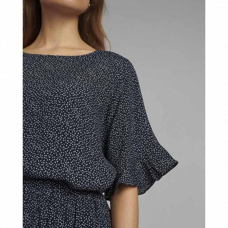 Nümph Bluse, Nucourtney blouse, Dark Sapphire Numph top detalje