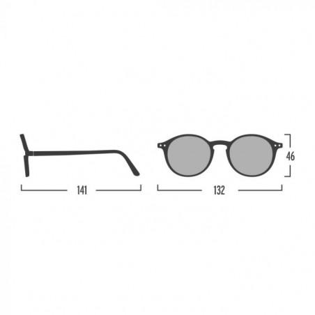Izipizi Solbriller, E Sun, Bottle Green, briller fra Izipizi, solbriller med firkantede glas, Izipizi forhandler København, mål