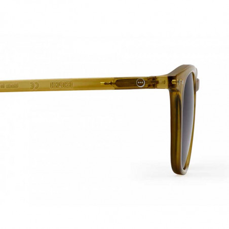 Izipizi Solbriller, E Sun, Bottle Green, briller fra Izipizi, solbriller med firkantede glas, grønne solbriller