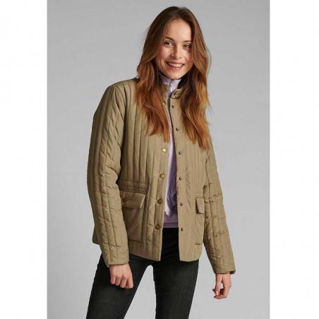 Nümph Jakke, Nusandy, Tannin Numpg vatteret forårsjakke - quilt jakke - kort numph jakke på model