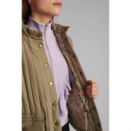 Nümph Jakke, Nusandy, Tannin Numpg vatteret forårsjakke - quilt jakke - kort numph jakke med blomstret for