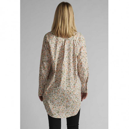 Nümph Skjorte, Nucharlotta, Brazillian Sand numph bluse - blomstret skjorte fra Nümph på model set bagfra
