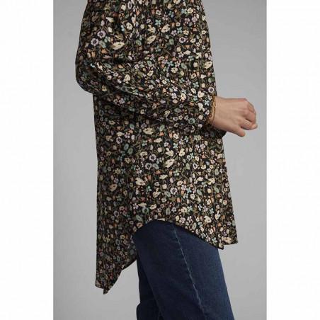 Nümph Skjorte, Nucharlotta, Dark Sapphire numph storskjorte småblomstret bluse fra Nümph side
