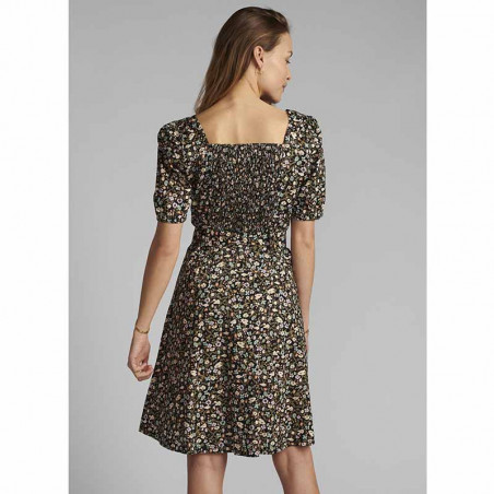 Nümph Kjole, Nucharlotta, Dark Sapphire Numph sommerkjole Nümph blomstret kjole på model set bagfra