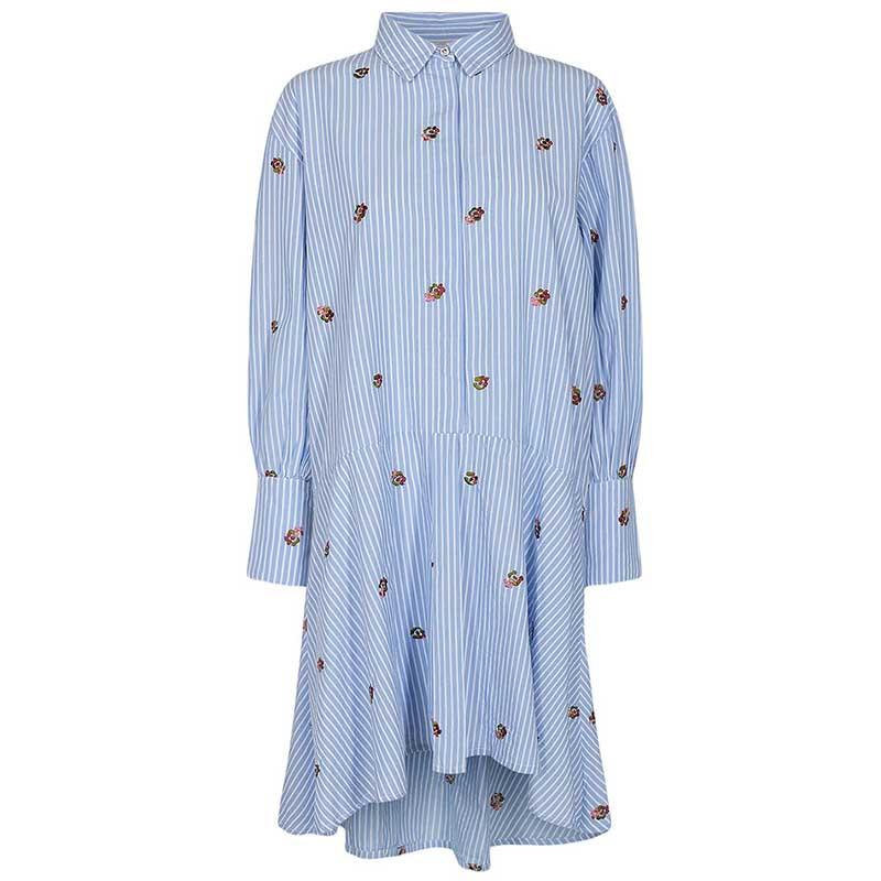 Nümph Kjole, Nudahlia, Blue Stripe Numph skjortekjole Nümph sommerkjole