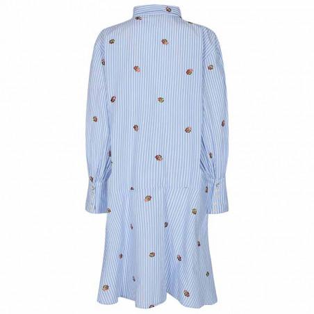 Nümph Kjole, Nudahlia, Blue Stripe Numph skjortekjole Nümph sommerkjole ryg