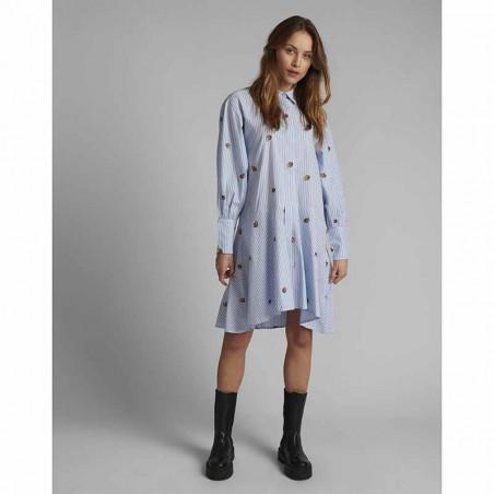 Nümph Kjole, Nudahlia, Blue Stripe Numph skjortekjole Nümph sommerkjole på model