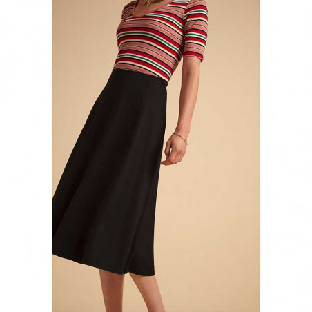 King Louie Nederdel, Juno Classic ecovero skirt, Black King Louie klassisk nederdel på model