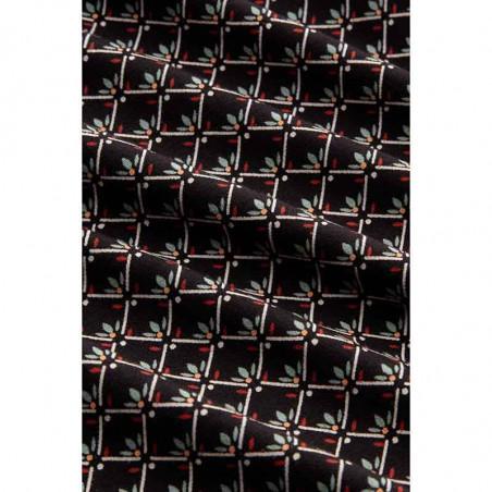 King Louie Nederdel, Border skirt Fresno, Black print Kinglouie jersey nederdel detalje