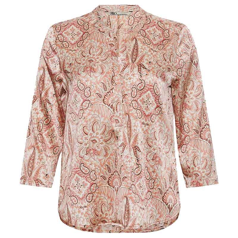 PBO Bluse, Bali, Rosa Print PBO silkebluse