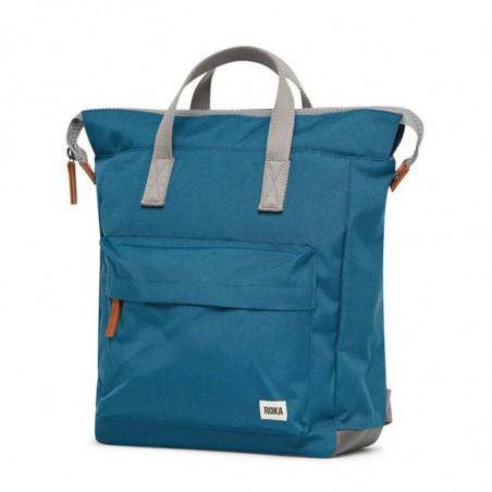 Roka Rygsæk, Bantry B Sustainable Medium, Marine, roka backpack, roka taske, petrol rygsæk, detalje