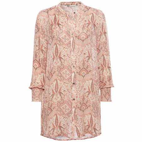 PBO Kjole, Carnana Dress, Rosa Print PBO skjortekjole i viscose