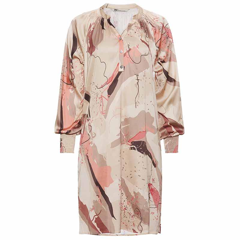 PBO Kjole, Tarsia Dress, Rosa Print PBO tøj til kvinder