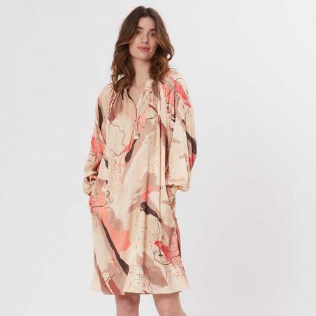 PBO Kjole, Tarsia Dress, Rosa Print PBO viscose fest kjole
