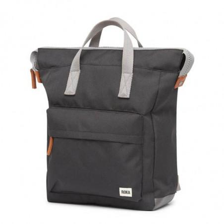 Roka Rygsæk, Bantry B Sustainable Medium, Ash, roka backpack, roka taske, sort rygsæk, detalje