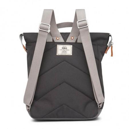Roka Rygsæk, Bantry B Sustainable Medium, Ash, roka backpack, roka taske, sort rygsæk, bagfra