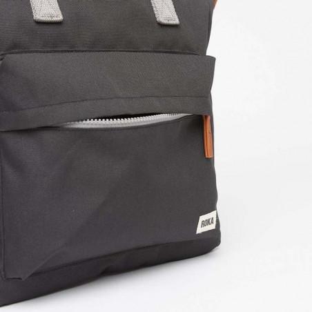 Roka Rygsæk, Bantry B Sustainable Medium, Ash, roka backpack, roka taske, sort rygsæk, lomme