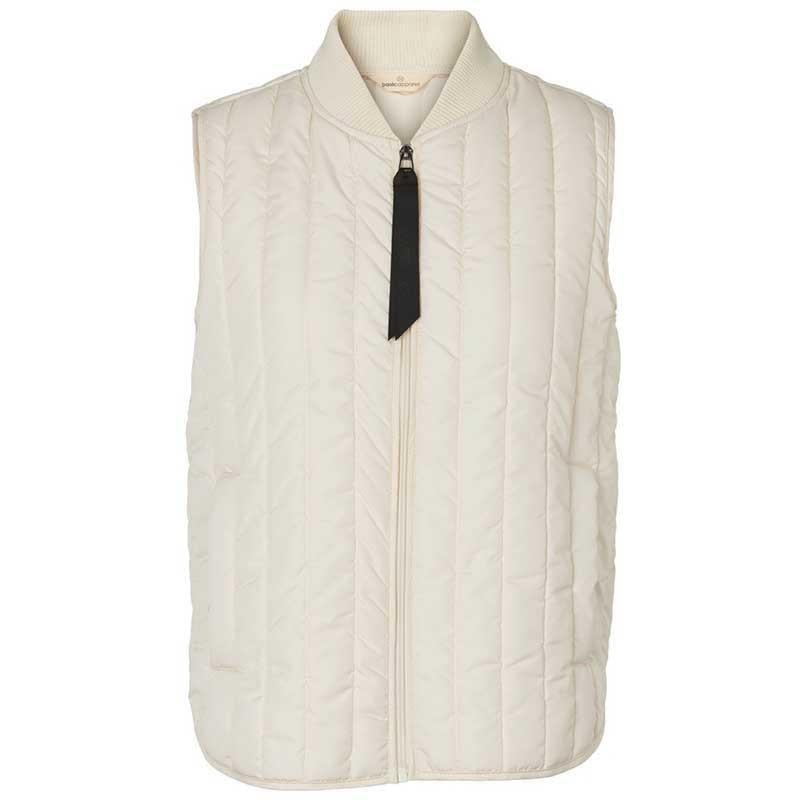Basic Apparel Vest, Louisa Short, Birch Basic Apparel Quiltet vest - Basic overtøj til kvinder